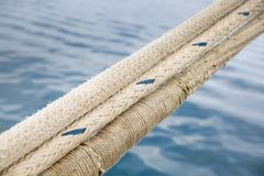 Heavy duty and weathered ropes Royalty Free Stock Photos