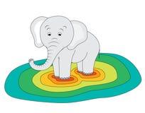 Heavy elephant Stock Photography