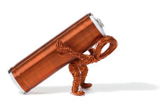 Heavy Energy Use Copper Dude Stock Photos