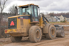 Heavy Equipment. Bulldozer at a construction site Royalty Free Stock Images