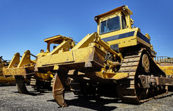 Heavy equipment bulldozer ripper Royalty Free Stock Images