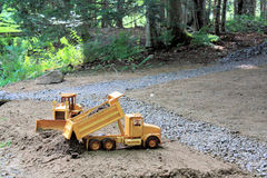 Heavy Equipment Bulldozer and Truck Royalty Free Stock Images