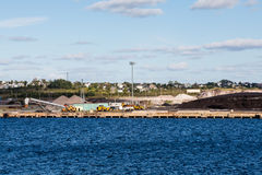 Heavy Equipment at Coal Shipping Area Stock Photography