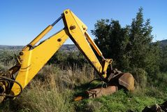 Heavy equipment in a construction site Royalty Free Stock Images