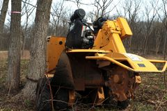 Stump grinder Royalty Free Stock Photos
