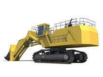 Heavy equipment. Excavator with bucket. Royalty Free Stock Images
