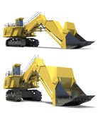 Heavy equipment. Excavator with bucket. Stock Photos