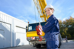 Heavy equipment with hook Royalty Free Stock Photos