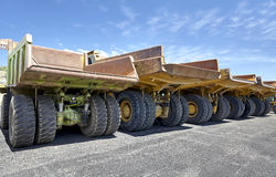 Heavy equipment industrial mining dump trucks Stock Photography