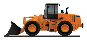 Heavy equipment loader. Color  illustration of heavy construction loader Royalty Free Stock Photos