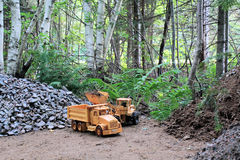 Heavy Equipment Loader and Truck Stock Photography