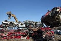 Automobile junk-yard stock photo