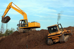 Heavy Equipment in Operation Stock Image