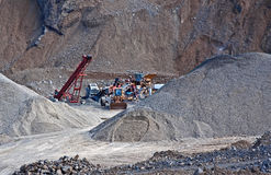 Heavy Equipment in Quarry Pit stock image