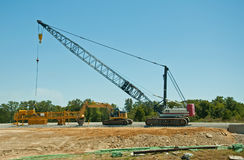 Heavy equipment at a road contruction site Stock Photography