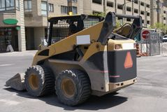 Heavy equipment. road work machine. construction vehicle on site Stock Photos