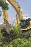 Heavy Equipment Strips Vegetation Stock Image