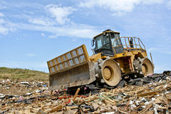 Heavy Equipment on Trash Stock Photo
