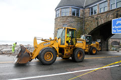 Heavy equipment used to clear the roads Stock Photo