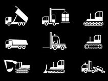 Heavy Equipment - vector icons Royalty Free Stock Photos