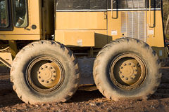 Heavy Equipment Wheels Royalty Free Stock Images