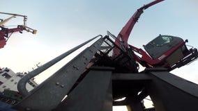 The heavy equipment stock video