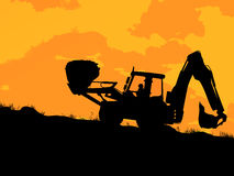 Heavy excavator loader Royalty Free Stock Photo