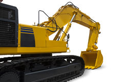 Heavy excavator with yellow color Stock Photo