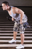 Heavy exercise Stock Photography