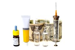 Heavy expenses of treatment Stock Photography