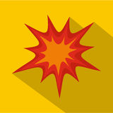 Heavy explosion icon, flat style. Heavy explosion icon. Flat illustration of heavy explosion vector icon for web Stock Photography