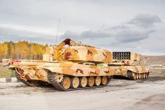 Heavy fire-throwing TOS-1A vehicles. Russia Royalty Free Stock Photography