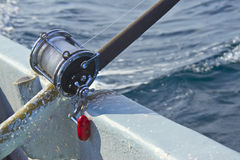 Heavy fishing reel Stock Image