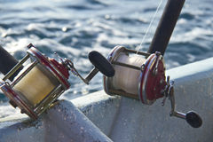 Heavy fishing reels Royalty Free Stock Images