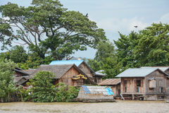 Heavy flooding in Mandalay , Myanmar. Royalty Free Stock Photography