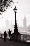 Heavy fog hits London Stock Image