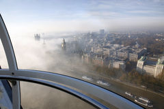 Heavy fog hits London Royalty Free Stock Photo