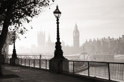 Heavy fog hits London Royalty Free Stock Photos