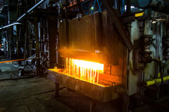 Heavy forging Plant. Oven With water curtain. Heavy forging Plant. Oven. water curtain Royalty Free Stock Photography