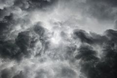 Heavy gale black stormy clouds Stock Photo