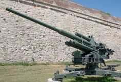 Heavy German anti-aircraft gun from the World War II Royalty Free Stock Photography