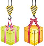 Heavy gift box Royalty Free Stock Images