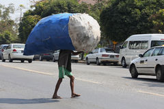 Carrying Heavy Goods - Manual Labor - Myanmar Royalty Free Stock Images