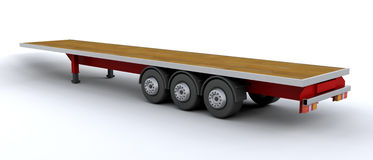 Heavy goods trailer Royalty Free Stock Photography