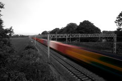 Heavy goods train abstract Stock Image