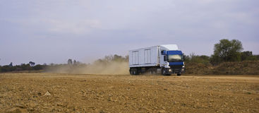 Heavy Goods in Transit Royalty Free Stock Photo