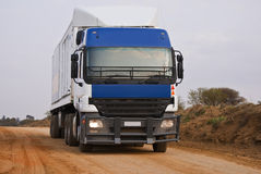 Heavy Goods in Transit - Front View Royalty Free Stock Photography