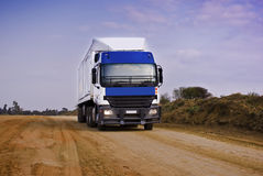 Heavy Goods in Transit - Front View Stock Images