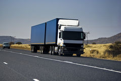 Heavy Goods in Transit - Long Haul Transport Stock Photo