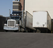 Heavy goods truck at loading bay Royalty Free Stock Photo